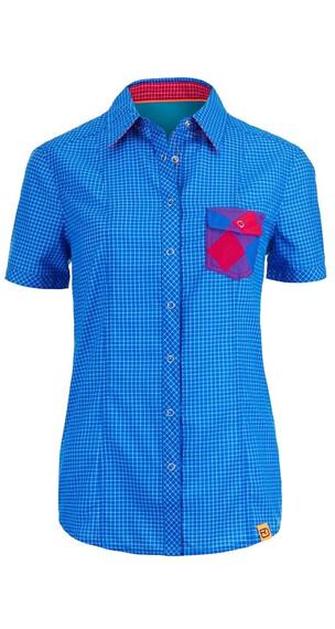 Ortovox W's Rock'n'Wool Cool Shirt Short Sleeve Blue Ocean (008)